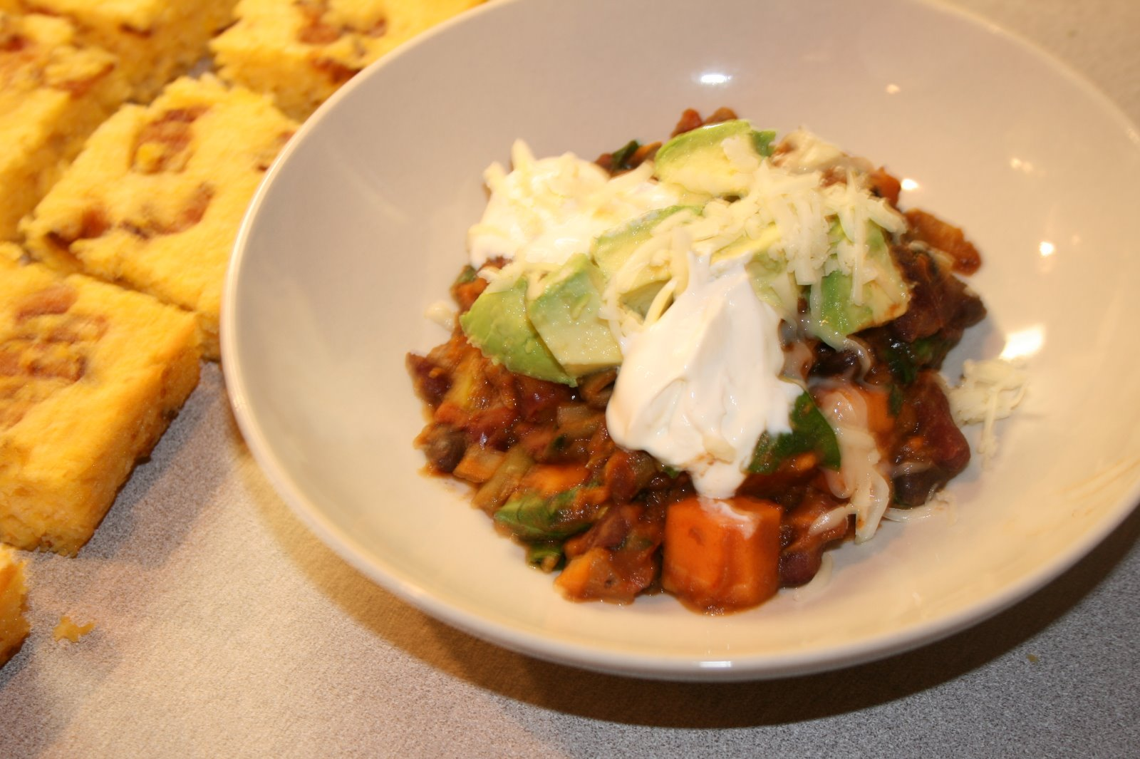 ... by that I mean chili. But vegetarian chili for the delicate among us