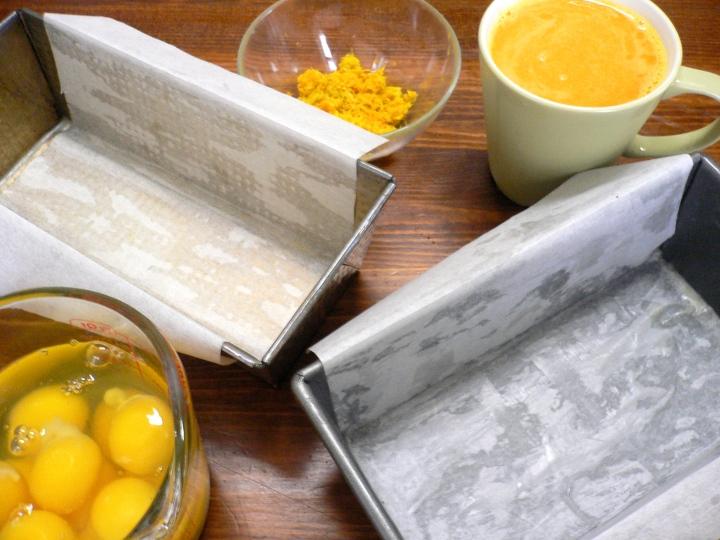 orange and pans